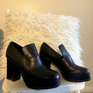 Zara chunky heeled loafers
